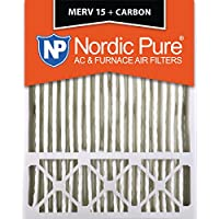 Nordic Pure 20x25x5 (4-3/8 Actual Depth) Lennox X6675 Replacement MERV 15 Plus Carbon AC Furnace Air Filter, Box of 1
