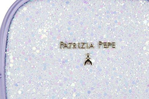 Patrizia Pepe Pochette Handtasche Damen Tasche Clutch NeuViolett