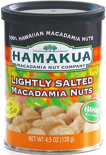 Dry Roasted Lightly Salted Hamakua Macadamia Nuts 4.5-ounce Can