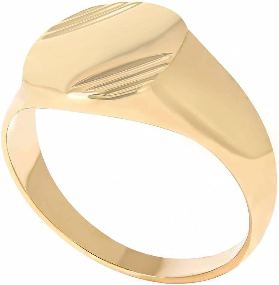 18 carats Eternal Gold Bague Mixte Homme Femme Plaqu/é Or 750//000 Chevali/ère ISADY