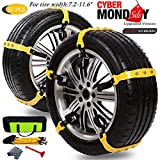 Car Snow Chains for Car Suv Truck,Anti Slip Tire Chain,Adjustable Universal Emergency Thickening Anti Snow Cables,Winter Driving Security Chains,Traction Mud Snow Chains-Fit for Tire Width: 185-295mm