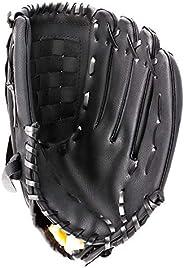 Portzon Baseball Gloves, Baseball Mitts Pitcher, Left Hand Baseball Leather, Outdoor Sports Softball Gloves Ma