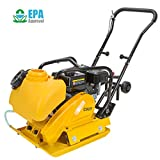 STKUSA 6.5HP Gas Vibration Compaction Force Plate Compactor Construction 4000Lbs Force