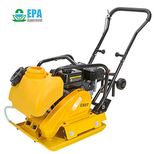 STKUSA 6.5HP Gas Vibration Compaction Force Industry Plate Compactor Construction 4000Lbs Force