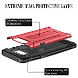 Samsung Galaxy Note 8 case, HianDier [New Armor Series] High Impact Hybrid Dual Layer Protective Heavy Duty Rugged Cover Case with Drop Resistant Shockproof Dustproof for Galaxy Note 8 (2017)-Red