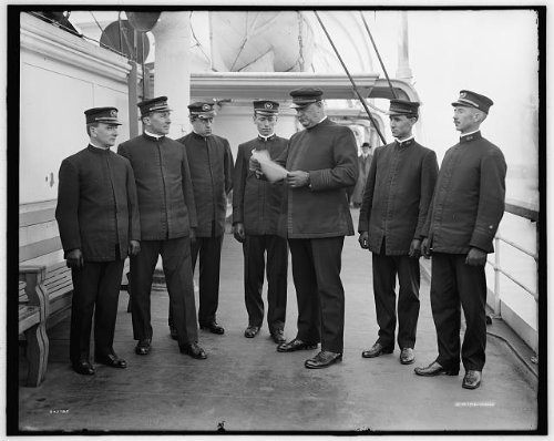Photo: Group,officers,deck,military - Ct Greenwich Stores