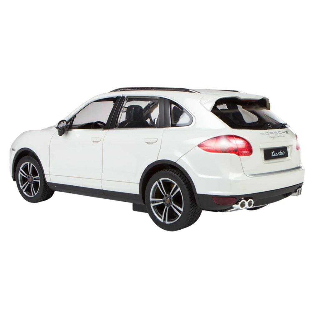 Rastar - Porsche Cayenne Turbo, coche teledirigido, escala 1:14, color blanco (ColorBaby 85015): Amazon.es: Juguetes y juegos