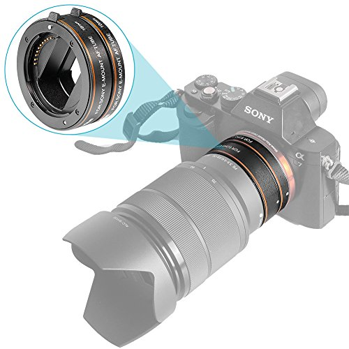 Neewer ABS AF Auto-focus Macro Extension Tube Set 10mm&16mm for Sony NEX E-mount Camera NEX 3/3N/5/5N/5R/A6000/A6300 and Full Frame A7 A7S/A7SII A7R/A7RII A7II
