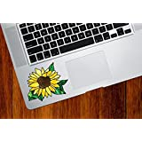 Sunflower - D2 - Stained Glass Style Vinyl Decal for Laptop | Macbook | Trackpad | Tablet - © YYDC (SIZE CHOICES) (Small, Yellow Sunflower)