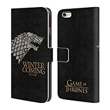 Official HBO Game Of Thrones Stark House Mottos Leather Book Wallet Case Cover For Apple iPhone 6 Plus / 6s Plus