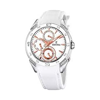 FESTINA SRA.ACE-CIRC.COR.ESF.PLATA.(BR) relojes mujer F16394/3: Amazon.es: Relojes
