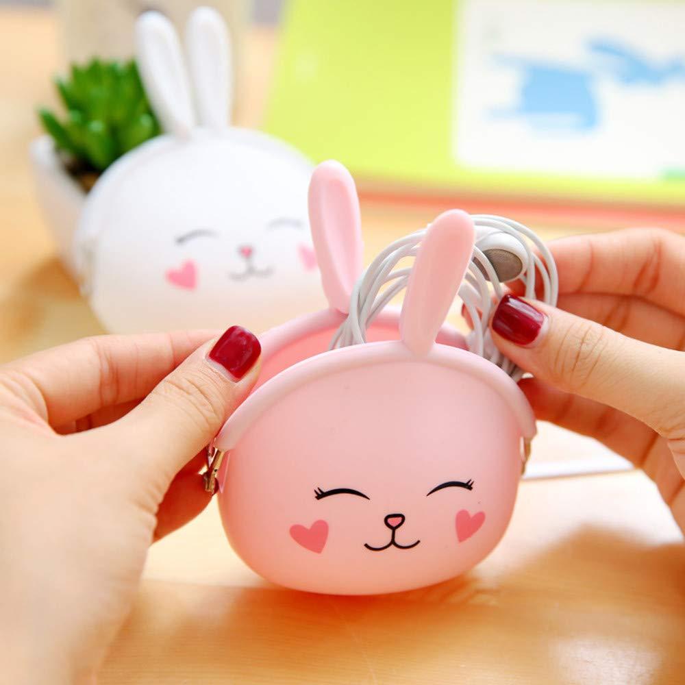 Amazon.com: Morrivoe Small Purse Cute Bunny Wallets Creative ...