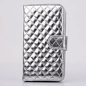 HJZ Samsung S3 I9300 compatible Solid Color PU Leather Full Body Cases , Silver