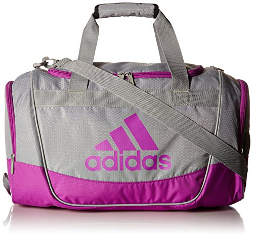adidas Defender II Small Duffel Bag, Small, Light Onix/Shock Purple