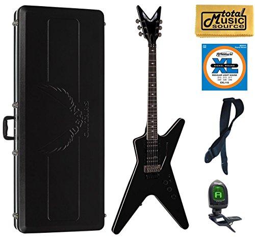 Dean ML SB F CBK Solid-Body Electric Guitar, Classic Black, ABS Case Bundle - Abs Classic Guitar Case