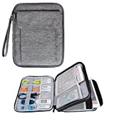 Damero Double Layer Electronics Organizer, Travel Accessories Carry Bag with 9.7''iPad Sleeve for Passport, Business Cards, Document, Pens, Smart Design and Premium Quality, Dark Gray