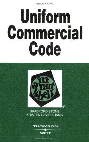 Uniform Commercial Code in a Nutshell (Nutshell Series)