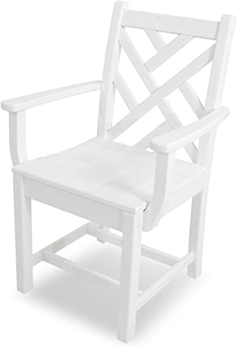 POLYWOOD CDD200WH Chippendale Dining Arm Chair