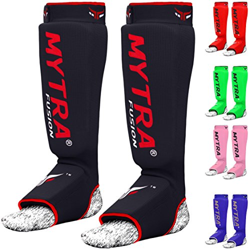 Mytra Fusion Shin Instep Kick Boxing Training Pads Karate Pads shin instep pads shin pads shin guards shin protectors shin protection crossfit shin guards muay thai shin guards boxing shin guards