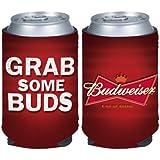 Budweiser Grab Some Buds Beer Can Kaddy Holder Cooler Koozie