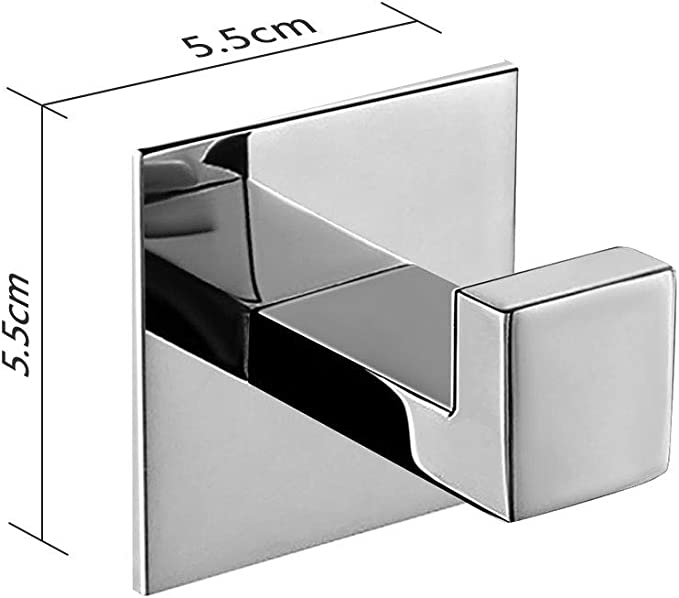 Cocina y Ba/ño Max 5KG Ganchos Adhesivos Ganchos Adhesivos para Pared de Acero Inoxidable Plata 4Pcs Toalleros de Gancho para Ba/ño
