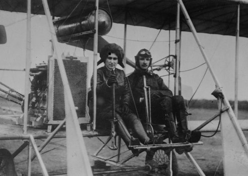 Early 1900s Photo (early 1900s photo Russian Princess Schaikowski and Aviator Abramowitsch Vinta)