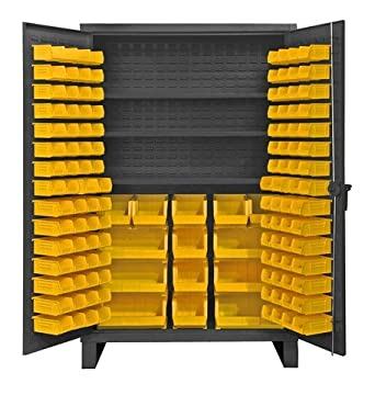 Durham Extra Heavy Duty Welded 12 Gauge Steel Cabinet With 134 Bins,  HDC48 134