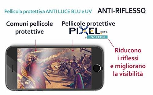 PELLICOLA PIXEL IPHONE SCREEN FILTER periPhone 6s Plus, iPhone 7 Plus (5.5) TEST UNIVERSITÀ DI TORINO, ANTI LUCE BLU E UV, ANTI GRAFFIO E NO BOLLE, INNOVATIVA COMPOSIZIONE MULTISTRATO, ANTI RIFLESSO,