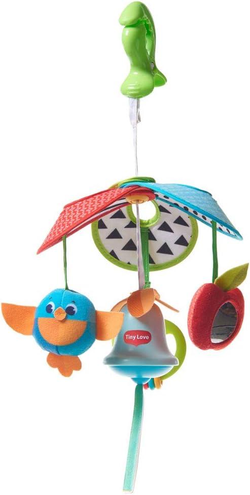 Tiny Love Pack & Go Mini Mobile Meadow Days - Móvil portátil y compacto para bebés apto desde el nacimiento, a partir de 0 meses