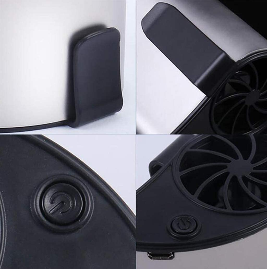 Iahshion Personal Portable Fan USB Rechargeable Suitable for Studios,Cars,Travel Blower Cooler Fan 3-Speed Mode 2200MA Battery
