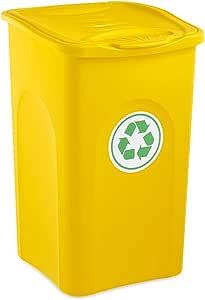 Stefanplast–Cubo de Basura, 50L, Color Amarillo
