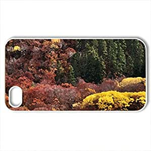 Autumn colors - Case Cover for iPhone 4 and 4s (Forests Series, Watercolor style, White) by supermalls