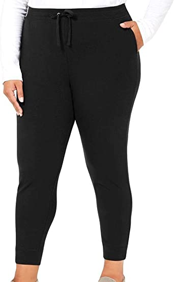 Karen Scott Womens Navy Blue Cotton//spandex Jogging Or Yoga short