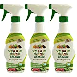 vegetable and fruit spray - Veggie Wash Organic Fruit and Vegetable Wash, Pack of 3, 16-Fl oz Each