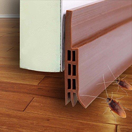 Under Door Sweep Door Draft Stopper, Silicone Self-adhesive Door Seal Dust Sound Light Blocker for Exteriro Interior Front Door 2