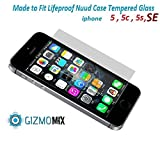 Lifeproof Nuud Tempered Glass Screen Protector For iPhone 5 5s 5c Case nüüd - Gizmomix Inc