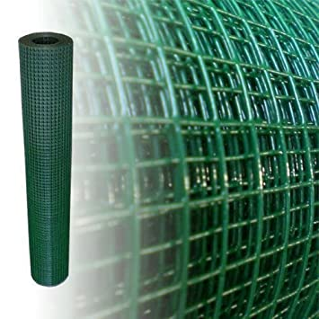 Volierendraht Grün Höhe 100 cm 4-Eck verzinkter Stahl Drahtgitter ...