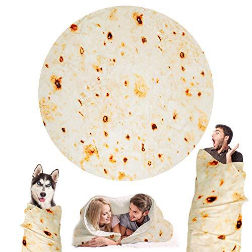 Outivity Burrito Tortilla Blanket for Adults,Novelty Tortilla Throw
