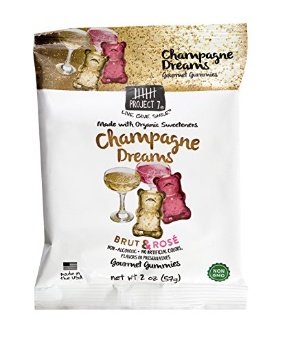 2 Ounce Champagne (Project 7 Natural Gourmet Gummies in Champagne Dreams, 8 Pack of 2 Ounce Pouches)