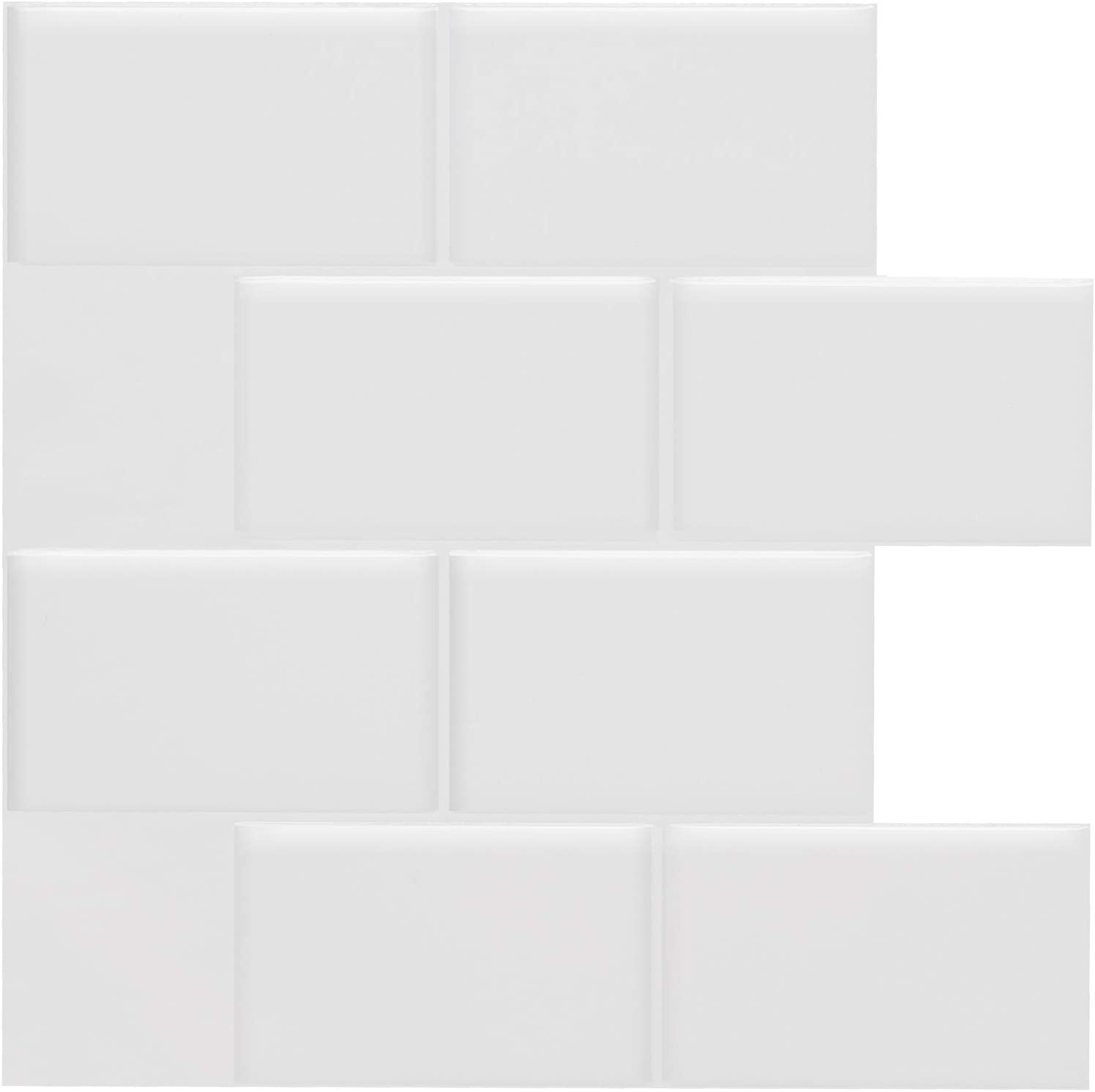 10 x 10 inch Subway White Deco i Amour Peel and Stick Tile Backsplash for Kitchen Bathroom Self Adhesive Stick On Tile 5 Sheets