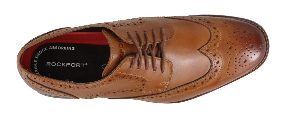 Rockport Men's Derby Room Wingtip Shoe in Black