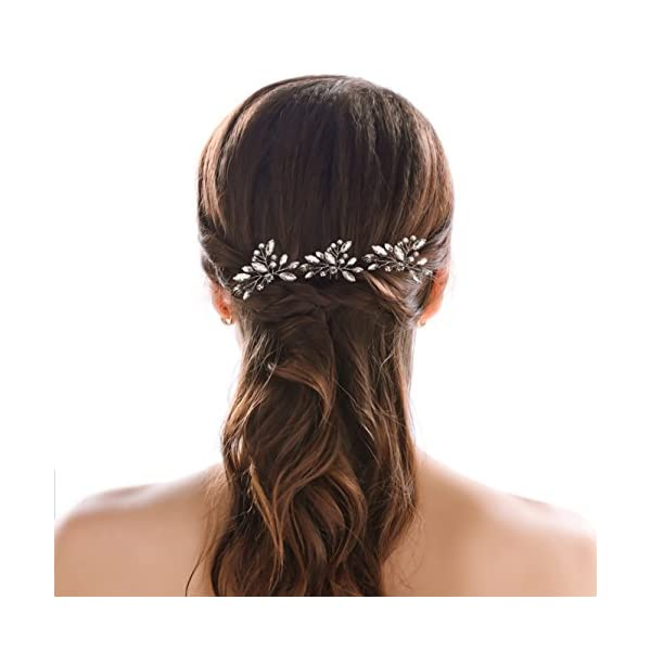 cb2006a8a25d Unicra Wedding Bridal Rhinestone Hair Pins Hair Set Jewelry Decorative Bridal  Hair Accessories for Brides and Bridesmaids Pack of 3 Silver
