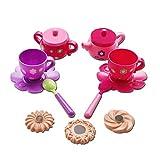 Marian Plastic Tea Sets for Girls - Baby Tea Set, Tea Party Set for Little Girls for Gross Motor Development