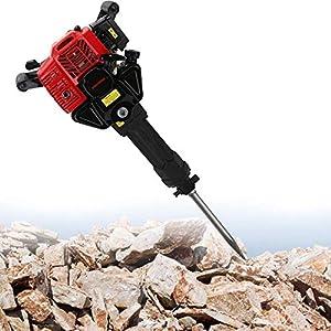 MXBAOHENG Gasoline Rock Drill 52cc Rock Breaker Hammer 1900W Multi-Function Gasoline Pickaxe Concrete Gravel Breaker…