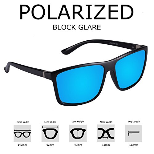 polarisées Lunettes Kennifer uv400 hommes carré de unisexes soleil soleil femmes Bleu pour lunettes de d1dnq7t
