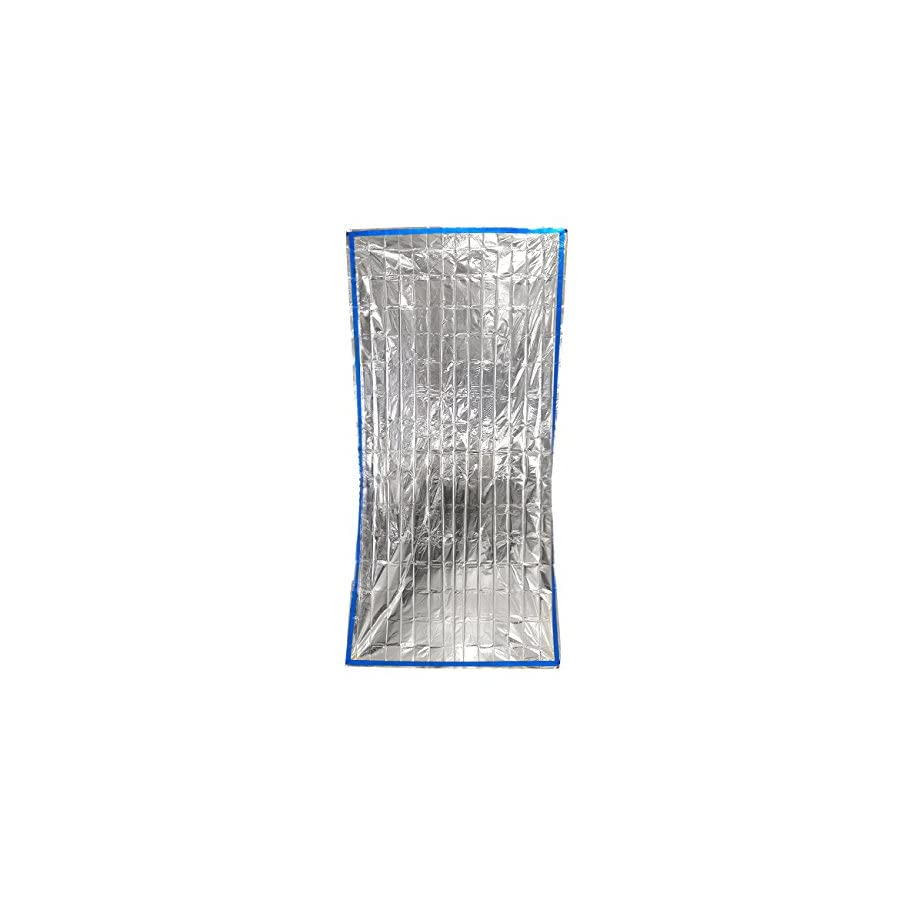 Juvale Pack of 4 Emergency Survival Mylar Thermal Reflective Cold Weather Blankets for Hiking, Camping and Cold Temperature Environments