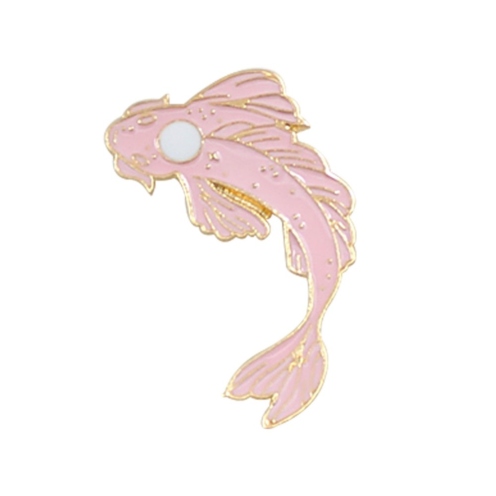 Finance Plan The Latest Lovely Cartoon Fish Badge Cod Diving Cloth Jeans Denim Brooch Pin Party Jewelry Pink + White