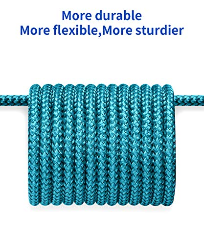 USB-C Cable 3A Fast Charging, JSAUX 3-Pack (10ft+6.6ft+3.3ft)USB A to Type C Charger Charge Nylon Braided Cord Compatible with Samsung Galaxy S10 S10E S9 S8 Plus Note 10 9 8,Moto Z,LG G8, USB C(Green)