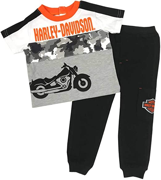 Harley-Davidson Baby Boys/' Infant Knit Pant Set w// Short Sleeve Tee 2061909