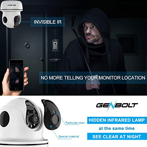 1080P Wireless IP Security Camera - GENBOLT WiFi HD CCTV Pan Tilt Spy Camera indoor for Home Surveillance, Two Way Audio Motion Detection Remote Webcam, Dog Cam, Baby Monitor by GENBOLT (Image #4)